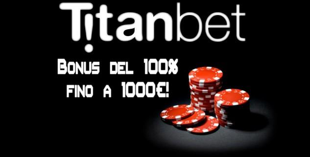 Titanbet Bonus di Benvenuto di 1000€: valutazione