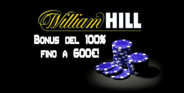 Bonus di Benvenuto su William Hill di 600€: valutazione