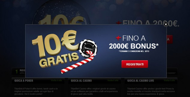 Bonus senza deposito di 10€ su Titanbet Casino