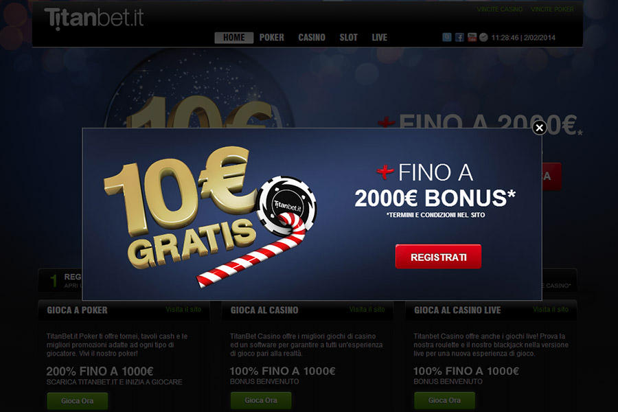 Europa casino bonus senza deposito