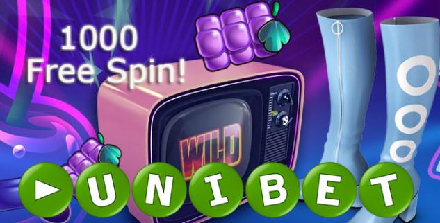 1000 free spin nel casino online Unibet!