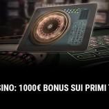 Bonus di Benvenuto di Betway casino: 1000€ gratis sui depositi